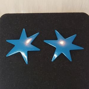 Jewelry - Vintage 1980s Star Earrings